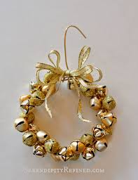 serendipity refined easy gold jingle bell wreath ornament