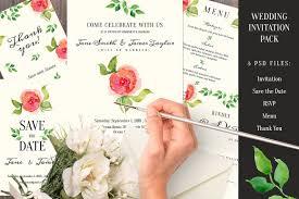 wedding invitation pack invitation templates creative market