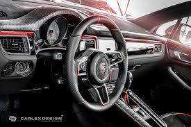porsche macan interior 2017 porsche macan interior gets alcantara u0026 black nappa treatment from