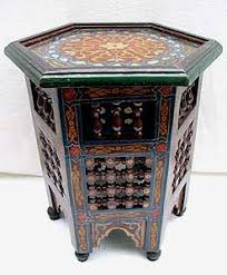 handpainted arabesque table tables wood u0026 furniture from morocco
