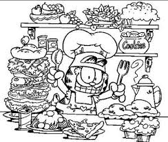 garfield thanksgiving coloring sheets coloring pages ideas
