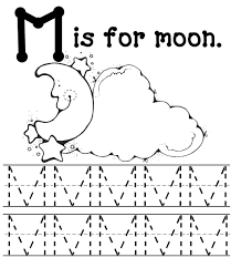 m for moon free alphabet coloring pages alphabet coloring pages