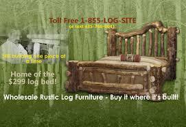 Log Bedroom Set Value City Furniture Log Furniture Rustic Log Beds Nationwide Wholesale Cabin U0026 Commercial