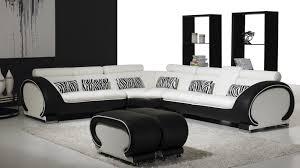 canape angle noir et blanc achetez un canapé d angle noir et blanc lecoindesign dedans