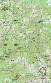 Sierra High Route Map by Map Ebbetts Pass To Sonora Pass Topo Hiking Pacific Crest Trail