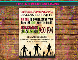 Printable Halloween Invitations For Party by Printable Halloween Zombie Party Invitations