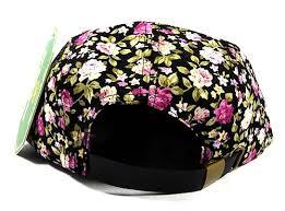 roses wholesale 5 panel floral c hats caps wholesale black mini roses