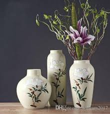 Creative Flower Vases Ceramic Vase Living Room European Style Home Creative Flowers