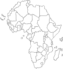 africa map black and white find the countries