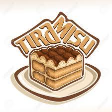 word for cuisine vector logo for tiramisu original typography typeface