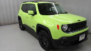 new jeep renegade green 2017 jeep renegade hyper green latitude 14564 youtube