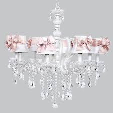 Kids Room Lighting Fixtures by Kids Jewel White Pink Crystal Chandelier Light Fixture Nursery