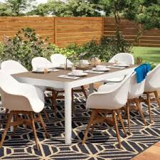 Wayfair Patio Dining Sets Outdoor Mercury Row Draco 9 Patio Dining Set Reviews