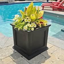 Black Planter Boxes by Amazon Com Mayne Fairfield 5825b Patio Planter 20 Inch Black