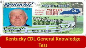 kentucky cdl general knowledge test youtube