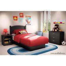 Black Twin Bedroom Furniture Sets South Shore Libra 3 Piece Pure Black Twin Kids Bedroom Set 3070223