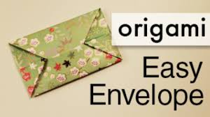 How To Fold Envelope Easy Origami Envelope Video Dailymotion