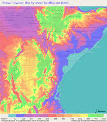 map of cities kenya elevation and elevation maps of cities topographic map contour