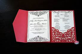 Red And Black Wedding Invitations Home