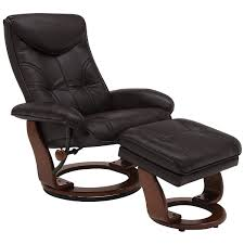 Recliner With Ottoman Oliver Dk Brown Bonded Ltr Recliner And Ottoman