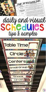 preschool daily schedule and visual schedules pocket of preschool
