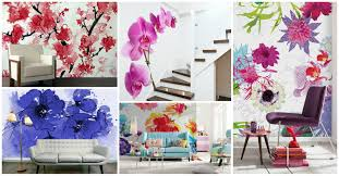 Wall Murals For Living Room Wall Mural Floral Background With Flowers Of Peony Wall Murals