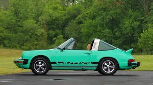 porsche targa green 1974 porsche 911 carrera targa s75 monterey 2016