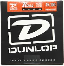 Medium Light Guitar Strings by Dunlop Dbn45100 Nickel Plated Steel Medium Light Bass Strings