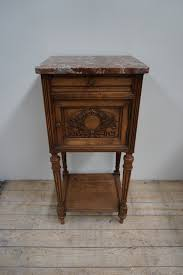 marble top bedside table antique french marble top bedside table lily pond