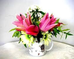 Wine Glass Flower Vase No Vase Don U0027t Worry Mug Cup U0026 Wine Glass Arrangements Work