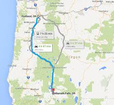 Klamath Falls Oregon Map by The Black Portlanders