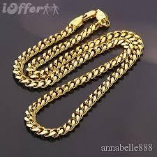 gold filled necklace images Noble men 39 s 18k yellow gold filled necklace chain for sale jpg