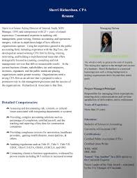 cpa resume cincinnati oh cpa firm sherri richardson cpa resume page