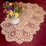 Crochet Table Runner Pattern Filet Crochet Table Runner Patterns