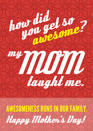 diy printable awesome mom mother u0027s day card