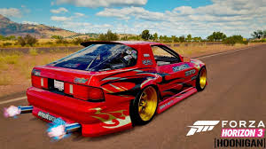 hoonigan cars forza horizon 3 hoonigan car pack mazda rx 7 twerk stallion
