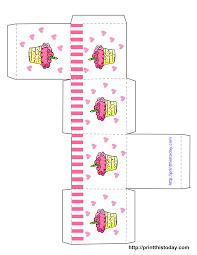 Diy Favor Box Template Printable by Cupcake Boxes Template Printable Free Printable Birthday Favor