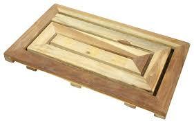 Teak Bath Mat Teak Bath Mat Inc Teak Maze Spa Mat Farmed Teak Dowel With