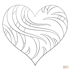 intricate heart coloring page free printable coloring pages