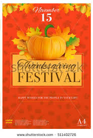 happy thanksgiving day poster template a4 stock vector 511402726