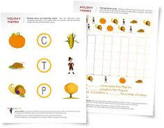 thanksgiving vocabulary printable chart and learning video www