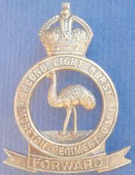 2nd Light 2nd Light Horse Moreton Light Horse Qmi Whitemetal Hat Badge