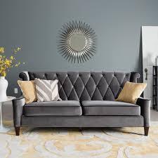 Modern Gray Sofa by Modern Gray Velvet Sofa Centerfieldbar Com