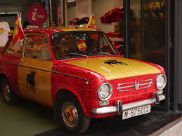 Spain Flags Madrid Spain 69 Spanish Looking Car Complete With Flags And