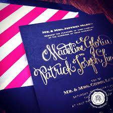 navy wedding invitations margotmadison navy gold wedding invitation