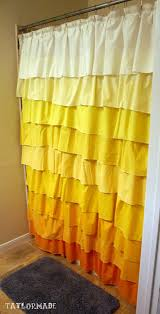 Frilly Shower Curtain Diy Anthropologie Flamenco Shower Curtain In Sunshine Taylormade