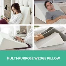 pillows for back support in bed 1x 2x memory foam bed wedge pillow cushion neck back support sleep