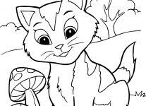 printable kitten coloring pages wallpaper download
