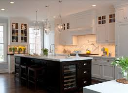kitchen with black island and white cabinets 60 inspiring kitchen design ideas home bunch interior