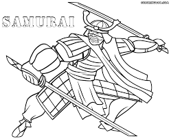 coloring pages samurai